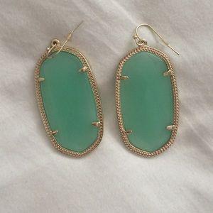 Kendra Scott Danielle earrings, chalcedony/gold
